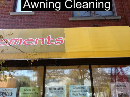 Awning Cleaning Before and After Chciago