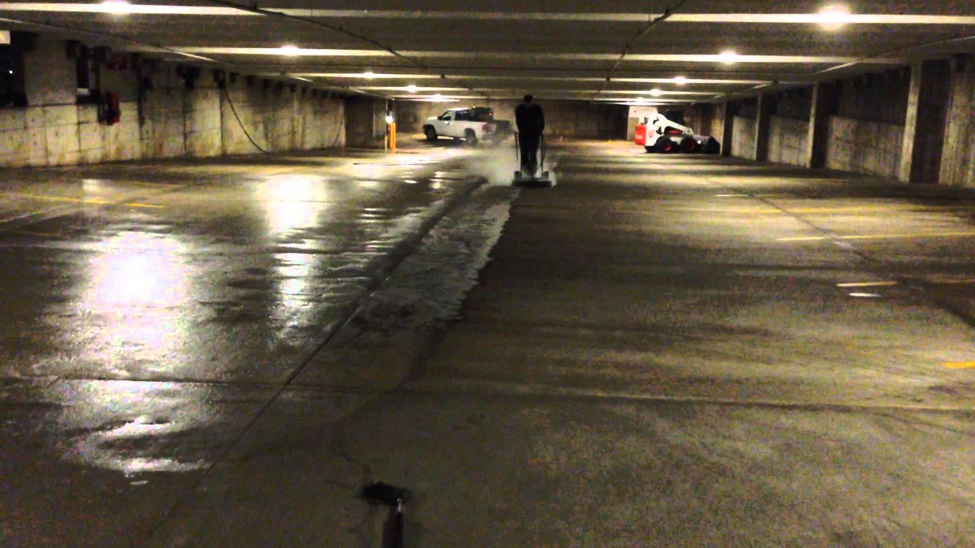 concrete parking garage pressure washing chciago